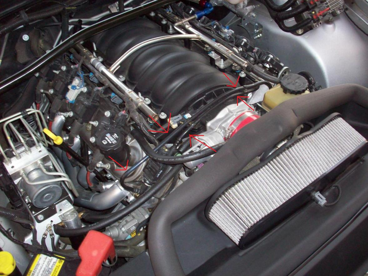 You know those PITA plastic vacuum lines on an LS2. See pointy red arrows  below:
