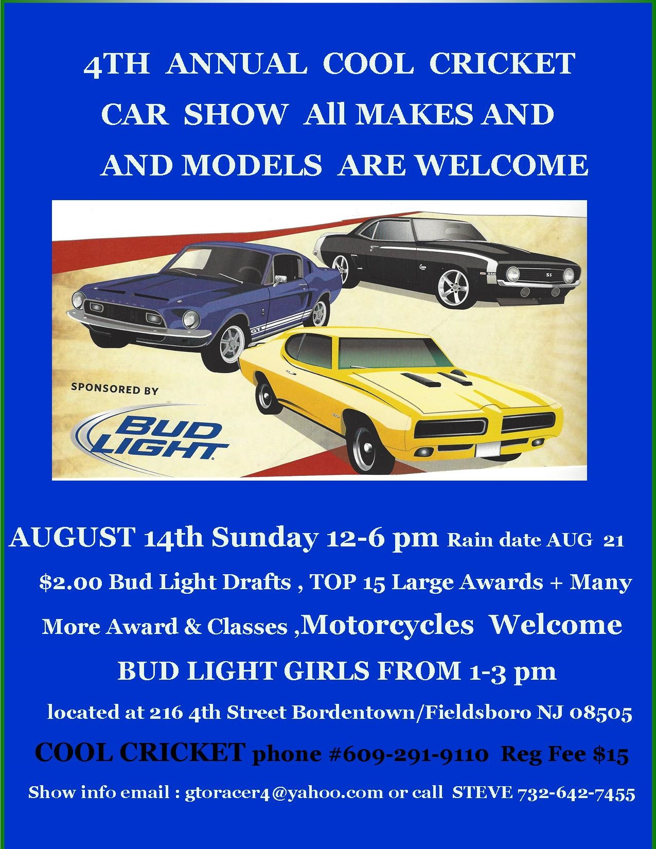 Th ANNUAL COOL CRICKET CAR BIKE SHOW AUGUST Th LSGTOcom Forums - Fun car show award categories