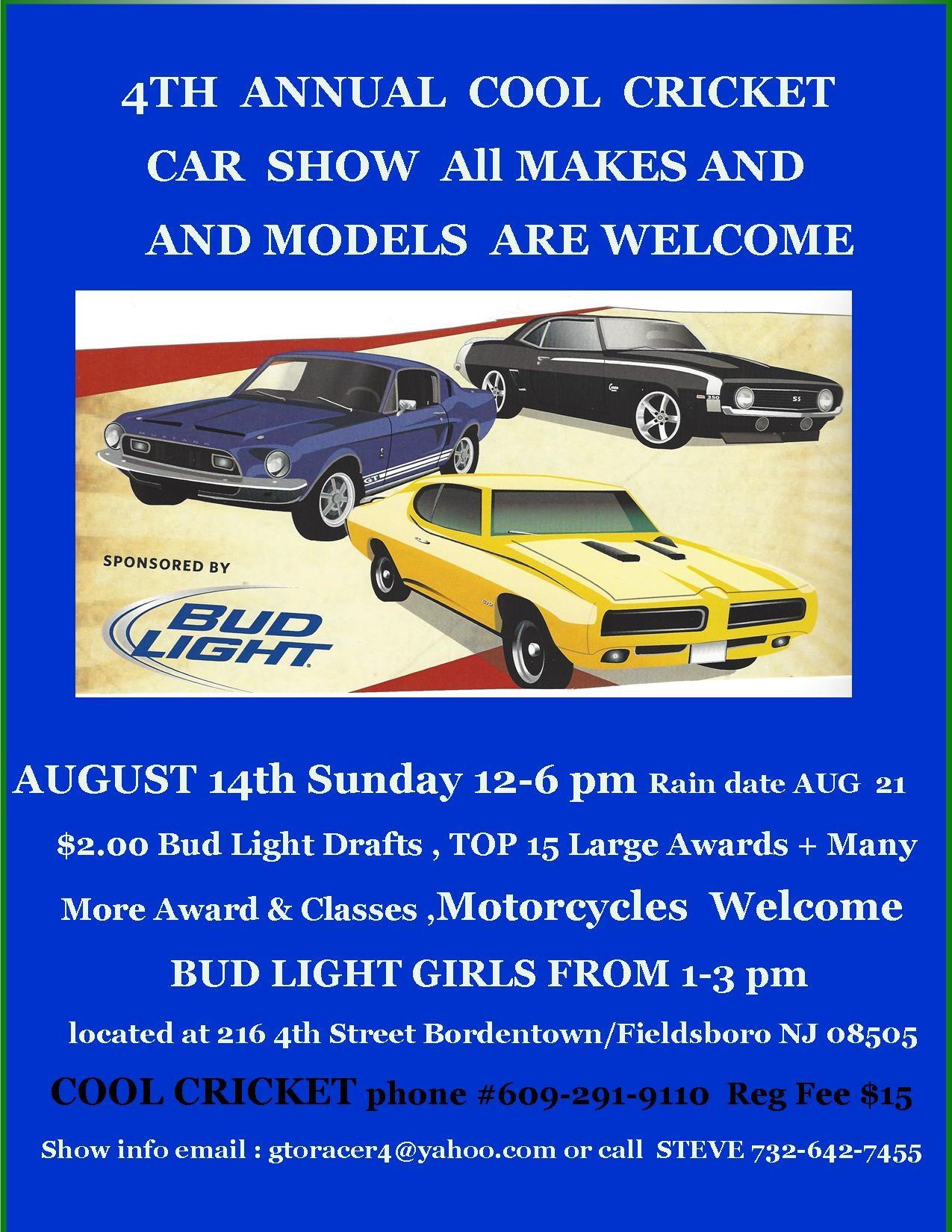 Th ANNUAL COOL CRICKET CAR BIKE SHOW AUGUST Th LSGTOcom Forums - Fun car show award categories