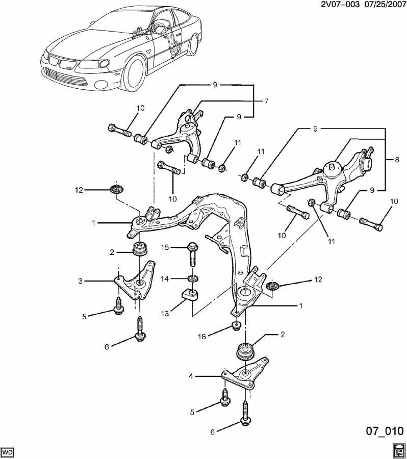 rear cradle alignment