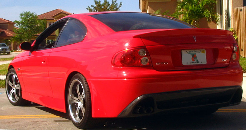 Cutting tailpipe opening on rmr gto bumper ls1gto forums report this image sciox Choice Image